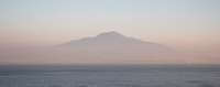 Mount Vesuvius across the Gulf of Naples. A high dynamic range image of Mount Vesuvius from our hotel balcony early in the morning.