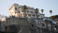 One of the hotels overlooking the port of Sorrento and the Gulf of Naples. It's hard to tell which hotel this is from down at the pier where I was standing but it's very majestic sitting up on the hil