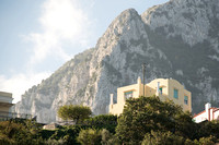 Home on Capri with cliffs in the background. I shot this picture from down in the valley of Capri, close to the harbor.