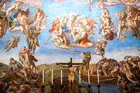 The Last Judgment by Michelangelo. The Last Judgment is a fresco by the Italian Renaissance master Michelangelo executed on the altar wall of the Sistine Chapel in Vatican City. It is a depiction of t