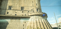 Castle in Naples. I took this picture from out tour bus as we were leaving Naples heading to Pompeii. Naples isn't the most tourist friendly city so we hardly spent any time off of the bus, it was mos