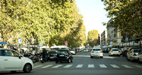 "Another picture of a street in Rome Italy. Notice the lack of lanes and the feeling of ""drive wherever you want?"""