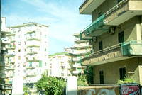 Some of the apartment buildings in Naples.