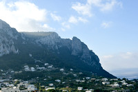 Another view of the rock formations in Capri from the village below. A high dynamic range picture of the rock formations in Capri taken from the village below.