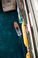That's a long way down to the water. Adventure of the Seas - Southern Caribbean Cruise - Memorial Day week 2016