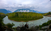 Bend in the river-The Davidson Glacier melt headed towards the Chilkat Inlet