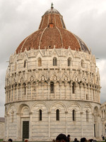 Pisa Baptistry of St. John. The Pisa Baptistry of St. John (Italian: Battistero di San Giovanni) is a Roman Catholic ecclesiastical building in Pisa, Italy. Construction started in 1152 to replace an