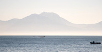 Boats in the Gulf of Naples. That should be Monte Faito in the background.