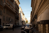 Via Sicilia in Rome. Getting to know the neighborhood around our hotel since we'll be staying here for a week.