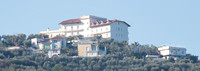 Hotel on the hill in Sorrento overlooking the Gulf of Naples. This picture was taken from the pier at full zoom.