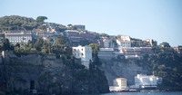 A view of the Sorrento hotels and restaurants that overlook the Gulf of Naples.