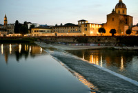 The Arno River in Florence Italy Taken at Sunset with my Nikon D750 on a mini tripod. The nifty fifty in action. Photographers will get that one.