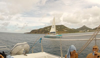 Another catamaran in the area. Adventure of the Seas - Southern Caribbean Cruise - Memorial Day week 2016