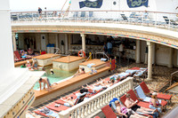 The forward pool for adults only. Royal Caribbean - Adventure of the Seas during a Southern Caribbean Cruise - Memorial Day week 2016