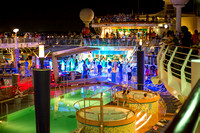 Pool party while we're still in port. Royal Caribbean - Adventure of the Seas during a Southern Caribbean Cruise - Memorial Day week 2016