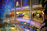 People in line at the guest services desk. Royal Caribbean - Adventure of the Seas during a Southern Caribbean Cruise - Memorial Day week 2016