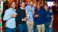 A group of guys on NYE 2015 A group of guys celebrating New Years Eve at Wall Street Plaza in Downtown Orlando.