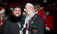 Two guys in the Beacham muggin for the camera. The 12 Bars of Christmas Pub Crawl. Downtown Orlando - December 9, 2016.