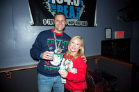 Height difference. The 12 Bars of Christmas Pub Crawl. Downtown Orlando - December 9, 2016.