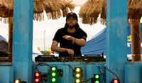 A Dj at the Corona Beach Club stage