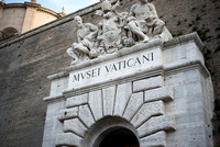 MVSEI VATICANI Letting you know you're about to enter the Vatican Museum. Very cool.