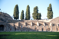 The Grand Theatre. The Teatro Grande in Pompeii has been built in the Samnite era, but it was completely rebuilt in the II century BC, during the Augustian age, as testified by an ancient iscription,