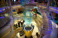 Decks five, four and three. Royal Caribbean - Adventure of the Seas during a Southern Caribbean Cruise - Memorial Day week 2016