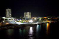 The port at night. Adventure of the Seas - Southern Caribbean Cruise - 2016