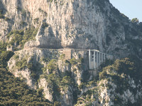 Another picture of the Mama Mia Bridge in Capri.