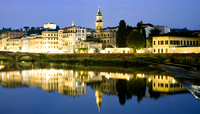 Another view of Florence and the Arno River at night