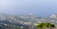 Capri and the Gulf of Naples from the top of the mountain Monte Solaro in Capri